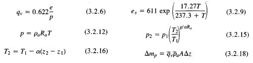 Equações utilizadas neste tutorial.