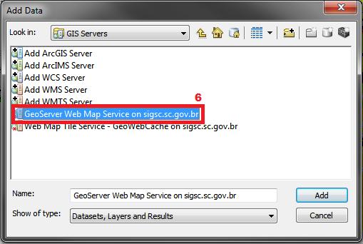 Clique duas vezes sobre o GeoServer Web Map Service