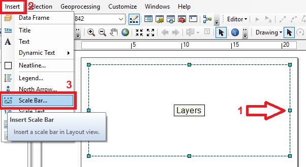 Como inserir uma escala gráfica no ArcGIS