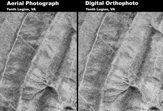 Diferença entre ortofoto e foto aérea.